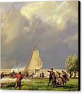 The Shipwreck Canvas Print by Hermanus Koekkoek