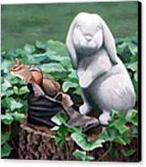 The Stone Rabbit Canvas Print by Sandra Chase