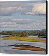 The Susquehanna River At Kingston Pa. Canvas Print by Bill Cannon