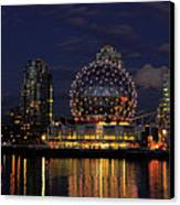 The Telus Science Center At Night Canvas Print by Lawrence Christopher