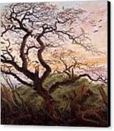 The Tree Of Crows Canvas Print by Caspar David Friedrich