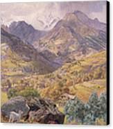 The Val D'aosta Canvas Print by John Brett