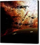 The View From A Busy Planetary System Canvas Print by Brian Christensen