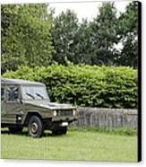 The Vw Iltis Jeep Used By The Belgian Canvas Print by Luc De Jaeger