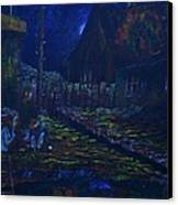 The Wall In Left Field Canvas Print by William Bezik