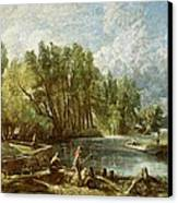 The Young Waltonians - Stratford Mill Canvas Print by John Constable