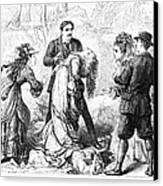 Theater: False Shame, 1872 Canvas Print by Granger