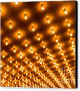 Theater Marquee Lights In Rows Canvas Print by Paul Velgos