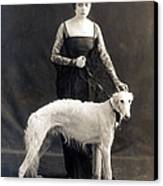 Theda Bara With Her Russian Wolfhound Canvas Print by Everett