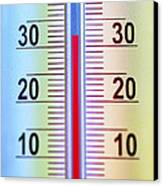 Thermometer Measuring 32 Celsius Canvas Print by Jaak Nilson