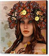 They Call Her Autumn Canvas Print by Jutta Maria Pusl