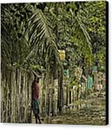 This Is The Philippines No.57 - Guess Im Gonna Get Wet Feet Canvas Print by Paul W Sharpe Aka Wizard of Wonders