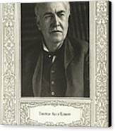 Thomas Edison, American Inventor Canvas Print by Science, Industry & Business Librarynew York Public Library