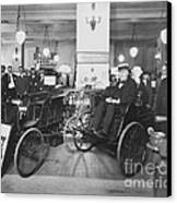 Thomas Edison In Quadricycle Canvas Print by Photo Researchers