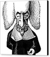 Thomas Hobbes, Caricature Canvas Print by Gary Brown