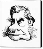 Thomas Huxley, Caricature Canvas Print by Gary Brown