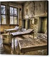 Three Beds Horror Canvas Print by Nathan Wright