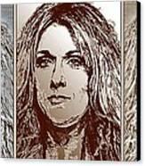 Three Interpretations Of Celine Dion Canvas Print by J McCombie