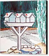 Three Mailboxes Sketchbook Project Down My Street Canvas Print by Irina Sztukowski