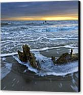 Tides At Driftwood Beach Canvas Print by Debra and Dave Vanderlaan