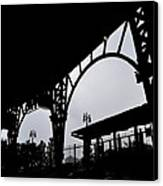 Tiger Stadium Silhouette Canvas Print by Michelle Calkins