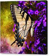 Tiger Swallowtail Feeding In Outer Space Canvas Print by J Larry Walker