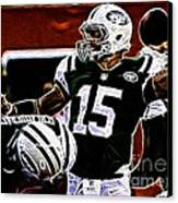 Tim Tebow  -  Ny Jets Quarterback Canvas Print by Paul Ward