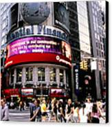 Times Square Corner Canvas Print by Linda  Parker