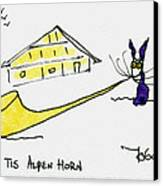 Tis Alpenhorn Canvas Print by Tis Art