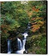 Torc Waterfall, Ireland,co Kerry Canvas Print by The Irish Image Collection