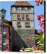 Tower In Old Town Rottweil Germany Canvas Print by Matthias Hauser