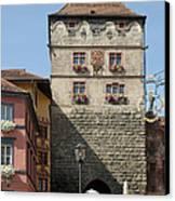 Town Gate Schwarzes Tor In Rottweil Germany Canvas Print by Matthias Hauser