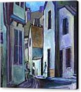 Town In Italy Canvas Print by Carol Mangano