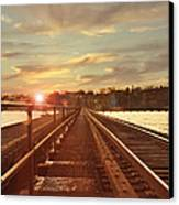 Tracks To Greatness Canvas Print by Joel Witmeyer
