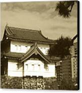 Traditional Building In Tokyo Canvas Print by Naxart Studio