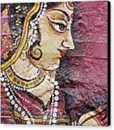 Traditional Painting On A Wall Jodhpur Canvas Print by David DuChemin
