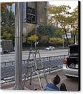 Traffic Control System, Daejeon Canvas Print by Mark Williamson