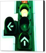 Traffic Lights Canvas Print by Kevin Curtis