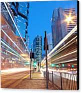 Traffic Night Canvas Print by Cozyta