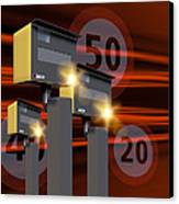 Traffic Speed Cameras Canvas Print by Victor Habbick Visions