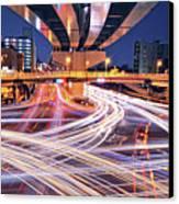 Traffic Trails Canvas Print by Y2-hiro