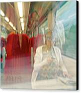 Train Travel Canvas Print by Carlos Dominguez