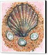 Treasure Of The Sea Canvas Print by Sabrina Khan
