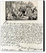 Treaty Between William Penn Canvas Print by Photo Researchers