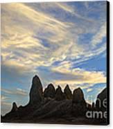 Trona Pinnacles Windswept Canvas Print by Bob Christopher