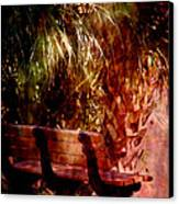 Tropical Bench Canvas Print by Susanne Van Hulst