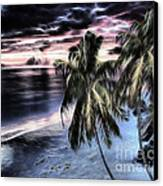 Tropical Evening Canvas Print by Cheryl Young