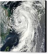 Tropical Storm Dianmu Canvas Print by Stocktrek Images