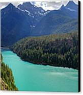 Turquoise Water Of Diablo Lake In The North Cascades Np Canvas Print by Pierre Leclerc Photography