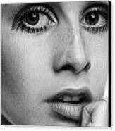 Twiggy Canvas Print by Nat Morley